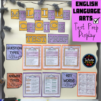 Multiple-Choice: English Language Arts Test Prep Bulletin Board Display/Posters