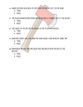 Multiple Choice Exam: Hatchet by Gary Paulsen