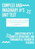Imaginary Numbers Test