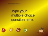 Multiple Choice PPT Game Template Thanksgiving Background Theme