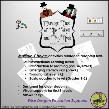 Multiple Choice Questions / Adapted Text Summary of Dr. Jekyll and Mr. Hyde