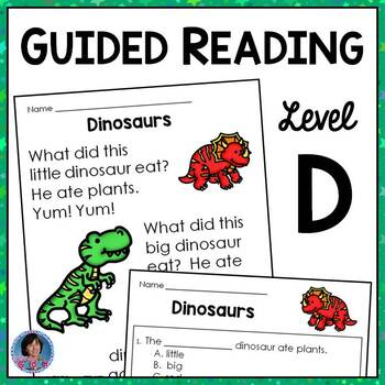Guided Reading Level D Passage with Text-Based Questions
