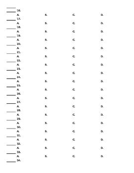 Multiple Choice Quiz Template