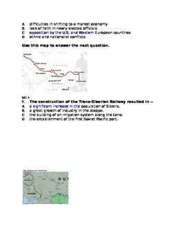 Multiple Choice Quiz on Russia and Central Asia