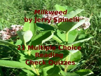 Jerry Spinelli's Milkweed: 21 Multiple Choice Reading Check Quizzes