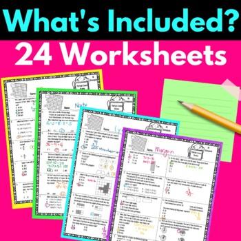 3rd grade math worksheets multiple choice test prep review tpt. Black Bedroom Furniture Sets. Home Design Ideas