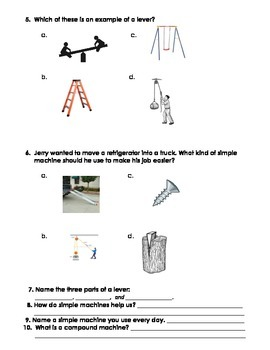 Multiple Choice Simple Machines Test