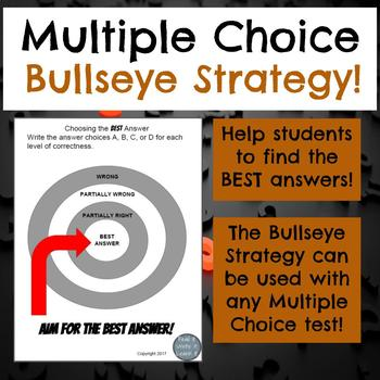 Multiple Choice Strategies PowerPoint, Worksheet, and Activity for Grades  6-8