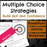 Multiple Choice Strategies PowerPoint, Worksheet, and Acti