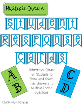 Multiple Choice Student Response Cards