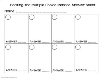 Multiple Choice Task Card or Scoot for Ratios and Rates