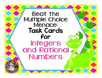 Multiple Choice Task Cards for Integers and Rational Numbers