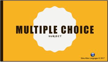 Multiple Choice Template