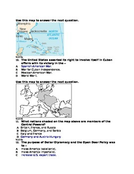 Multiple Choice Test US World Power and World War 1