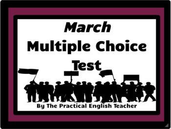 33-Question Multiple Choice Test for March-Book One