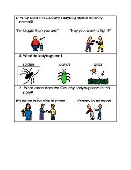 Multiple Choice Test for The Grouchy Ladybug