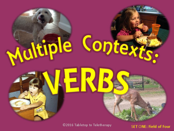 Multiple Contexts: Verbs (Set One: Field of 4)