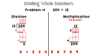 Multiple Digit Division Drag and Drop and Prove It - Google Slides Activity
