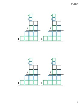 Multiple Digit Multiplication Boxes