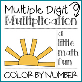 Multiple Digit Multiplication Color by Number