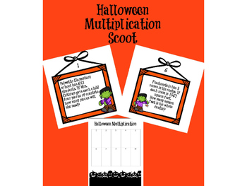 Multiple Digit Multiplication Halloween Scoot