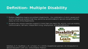 Multiple Disabbilities