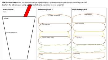 Multiple Hamburger Paragraph Foldable VDOE Prompt #6