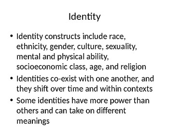 Multiple Identities & Multicultural Competencies