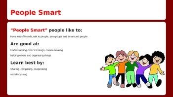 Multiple Intellegences Powerpoint for the Elementary Student