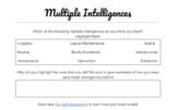 Multiple Intelligence Activity