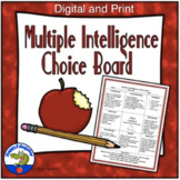 Multiple Intelligences Menu Choice Board