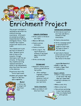 Multiple Intelligence Enrichment Project