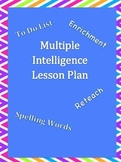 Multiple Intelligence Lesson Plan Template