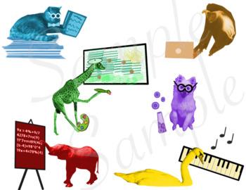 Multiple Intelligence Photo-Realistic Animal Clip Art