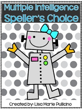 Multiple Intelligence Speller's Choice Menu