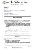 Multiple Intelligence Sunday School Lesson plan