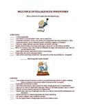 Beginning of Year Multiple Intelligence Survey with Score Sheet