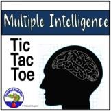 Multiple Intelligences Tic Tac Toe Assignment Menu Template