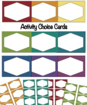 Activity Choice Cards