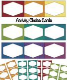 Activity Choice Cards