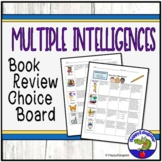 Multiple Intelligences Book Review Menu Choice Board