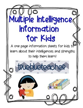 Multiple Intelligences Information for Kids