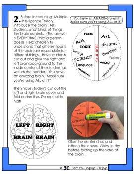 Multiple Intelligences Lapbook for Gifted and Talented TAG GT GATE