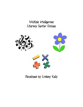 Multiple Intelligences Literacy Center Options