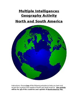 Multiple Intelligences North and South American Geography