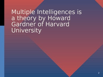 Multiple Intelligences PPT