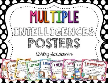 Multiple Intelligences Posters by Ashley Sanderson | TpT
