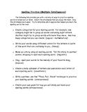 Multiple Intelligences Spelling Practice Ideas
