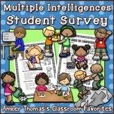 Multiple Intelligences Student Interest Survey