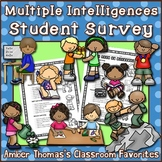 Multiple Intelligences Student Interest Survey | Distance Learning Included